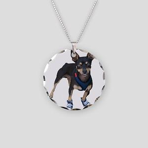 Mini Pincher Necklace Circle Charm