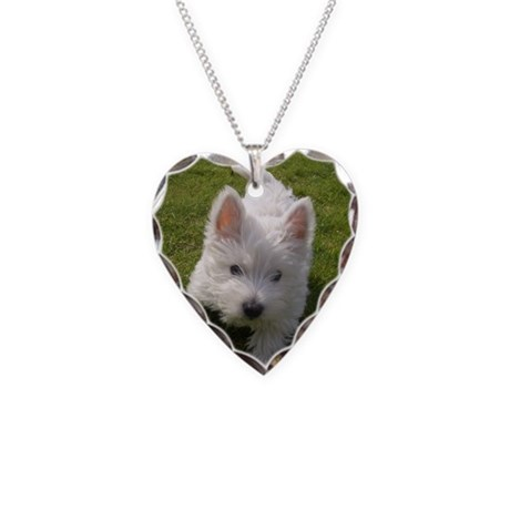 West Highland Necklace Heart Charm