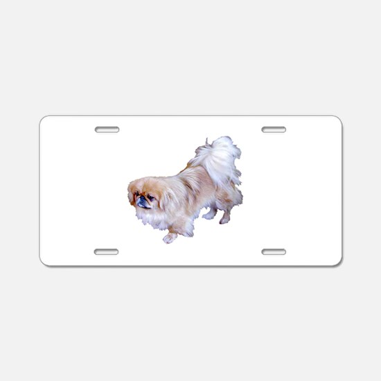 Pekingese Dog Aluminum License Plate