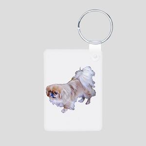Pekingese Dog Aluminum Photo Keychain