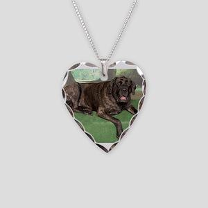 Mastiff Necklace Heart Charm