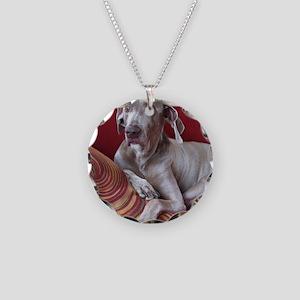 Weinaraner Necklace Circle Charm