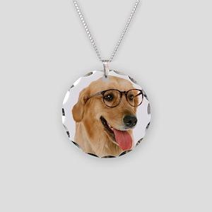 Smart Golden Necklace Circle Charm