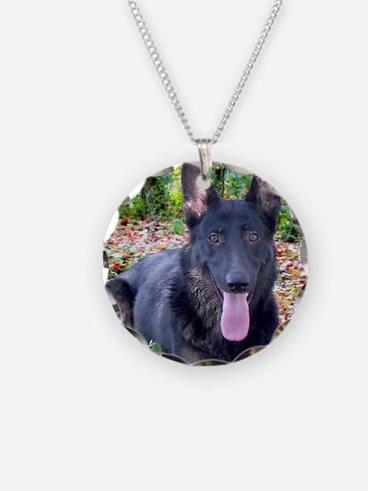 Black German Shepard Necklace