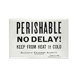 Perishable - No Delay ! Rectangle Magnet