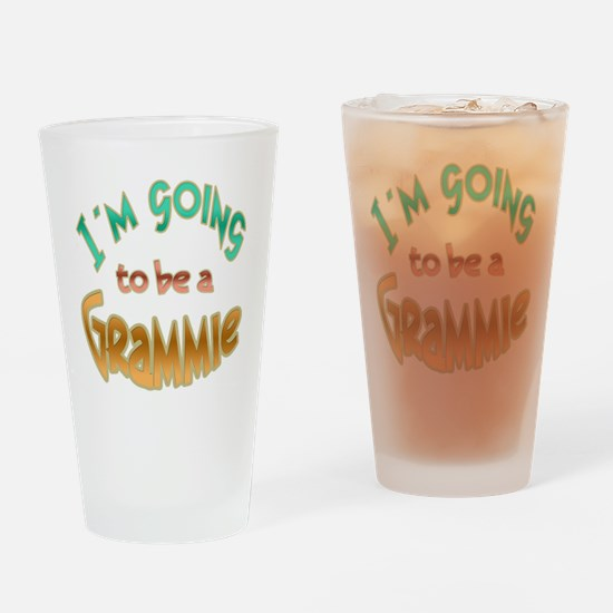 I AM GOING TO BE A GRAMMIE Drinking Glass