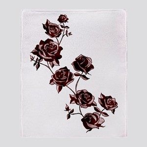 All the Pretty Roses Throw Blanket