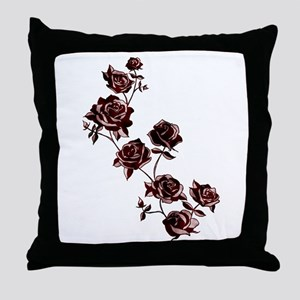 All the Pretty Roses Throw Pillow