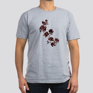 All the Pretty Roses Men's Fitted T-Shirt (dark)