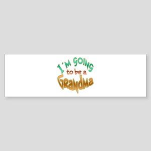 I AM GOING TO BE A GRANDMA Sticker (Bumper)