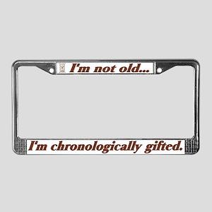 Not Old License Plate Frame