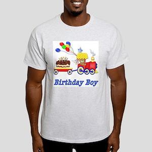 Birthday Train - Boy Ash Grey T-Shirt