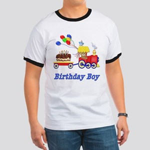 Birthday Train - Boy Ringer T