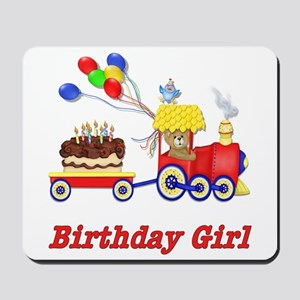 Birthday Train - Girl Mousepad