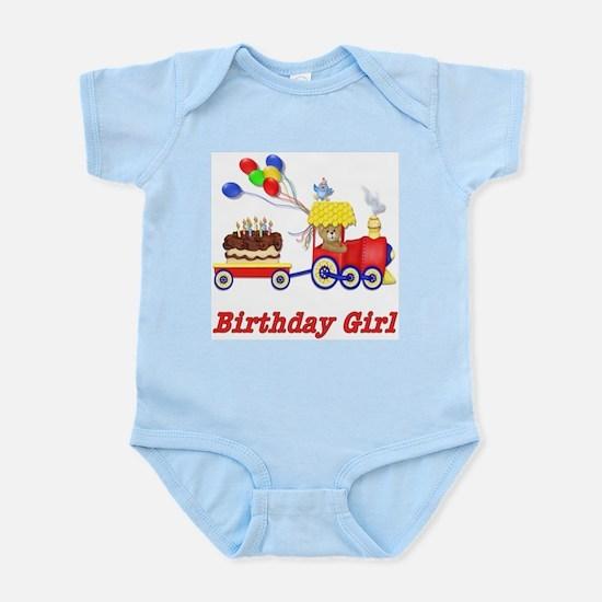 Birthday Train - Girl Infant Creeper