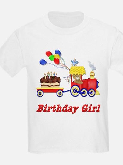 Birthday Train - Girl Kids T-Shirt