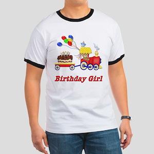 Birthday Train - Girl Ringer T