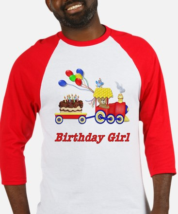 Birthday Train - Girl Baseball Jersey
