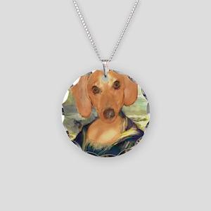 Mona Dachshund Necklace Circle Charm
