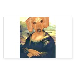 Mona Dachshund Sticker (Rectangle 10 pk)