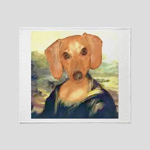 Mona Dachshund Throw Blanket