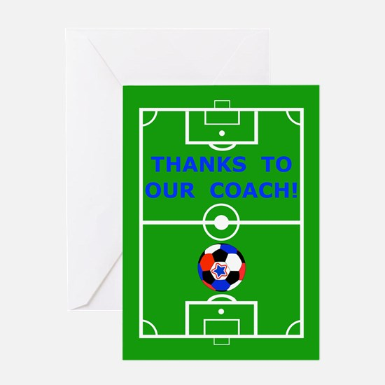 Soccer Coach Thank You Greeting Card