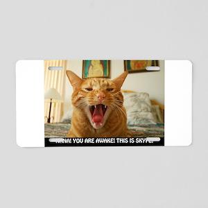 SKYPE Cat Aluminum License Plate