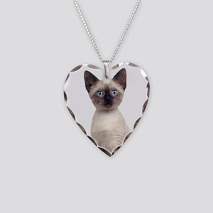 Siamese Necklace Heart Charm