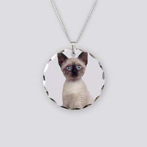 Siamese Necklace Circle Charm