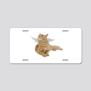Orange Angel Cat Aluminum License Plate