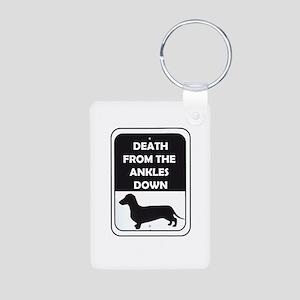 Ankle Death Aluminum Photo Keychain