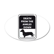 Ankle Death 22x14 Oval Wall Peel
