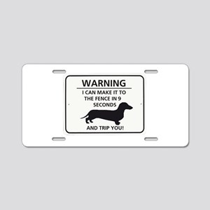 Warning Trip You Aluminum License Plate
