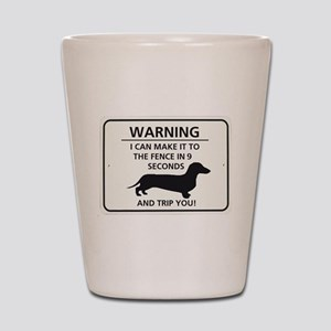 Warning Trip You Shot Glass