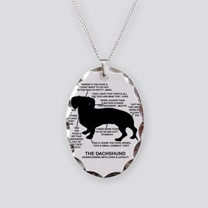 Dachshund Chart Necklace Oval Charm