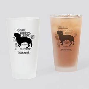 Dachshund Chart Drinking Glass