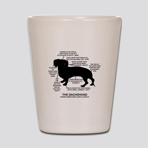 Dachshund Chart Shot Glass