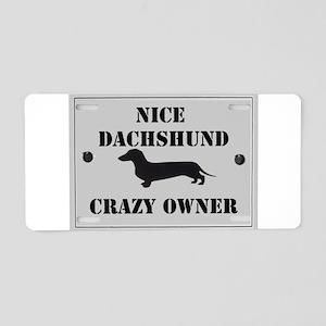 Nice Dachshund Aluminum License Plate