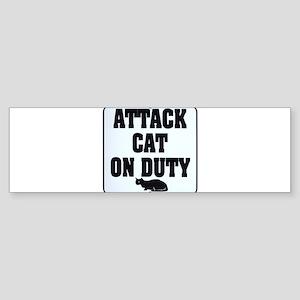 Attack Cat Sticker (Bumper)