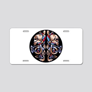 Celtic Double Dachshund Dogs Aluminum License Plat