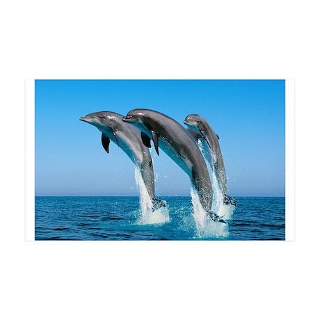 Three Dolphins 38.5 x 24.5 Wall Peel