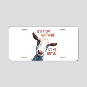 Goat Move Aluminum License Plate