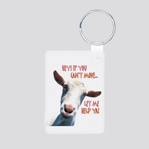 Goat Move Aluminum Photo Keychain
