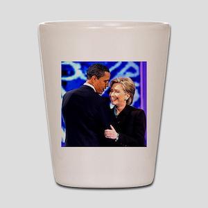 Obama & Clinton Shot Glass