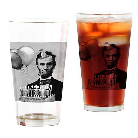 Lincoln's Birthday Drinking Glass