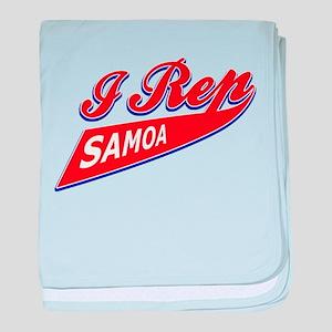 Samoan patriotic designs baby blanket
