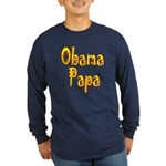 Obama Papa Long Sleeve Dark T-Shirt