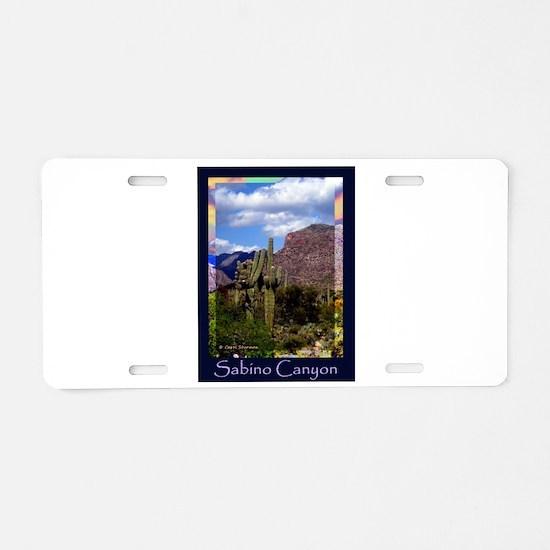 Sabino Canyon Aluminum License Plate