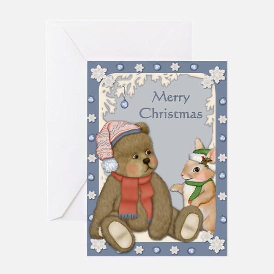 Winter Bear and Bunny Greeting Card
