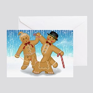 Gingerbread Trio Greeting Card